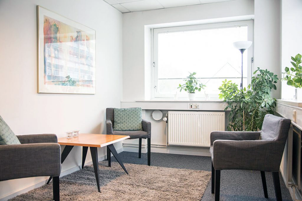 Terapilokale hos psykoterapeut Tid Til Forandringer på Frederiksberg