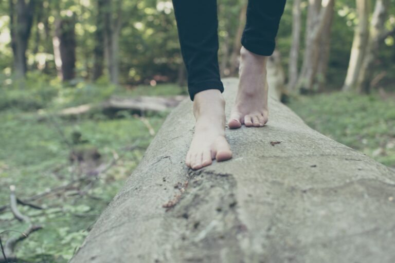 Stress og om at holde balancen på en træstamme
